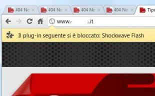 blocco del plugin Flash Player