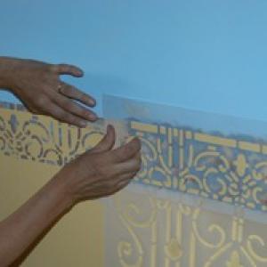 stencil pareti piastrelle
